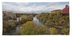 Bath Towel featuring the photograph Genesee River by William Norton
