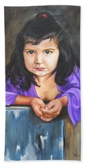 Bath Towel featuring the painting Girl From San Luis by Lori Brackett