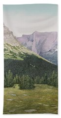 Glacier National Park Montana Bath Towel