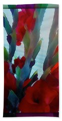 Hand Towel featuring the digital art Glad by Richard Laeton