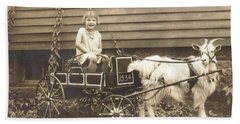 Hand Towel featuring the photograph Goat Wagon by Bonfire Photography