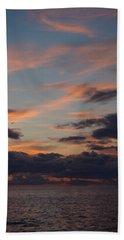 God's Evening Painting Bath Towel by Bonfire Photography
