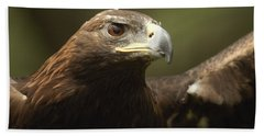 Hand Towel featuring the photograph Golden Eagle by Doug Herr