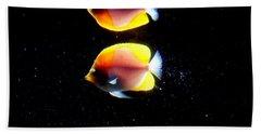 Golden Fish Reflection Hand Towel