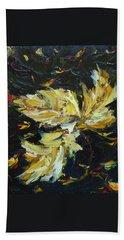 Golden Flight Hand Towel by Judith Rhue