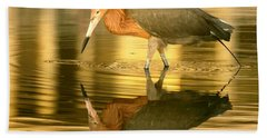 Bath Towel featuring the photograph Golden Reflection by Myrna Bradshaw