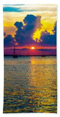 Golden Waters Bath Towel by Shannon Harrington