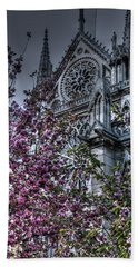 Hand Towel featuring the photograph Gothic Paris by Jennifer Ancker