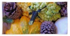 Hand Towel featuring the photograph Gourds 4 by Deniece Platt