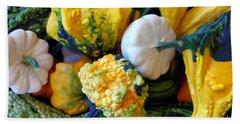 Hand Towel featuring the photograph Gourds 8 by Deniece Platt