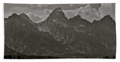 Bath Towel featuring the photograph Grand Tetons by Eric Tressler