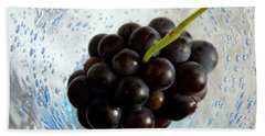 Bath Towel featuring the photograph Grape Cluster In Biot Glass by Lainie Wrightson