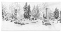 Graveyard In The Snow Bath Towel