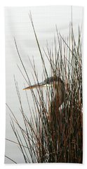Great Blue Heron Bath Towel by Kay Lovingood