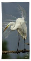 Great Egret Hand Towel