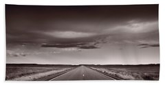 Great Plains Road Trip Bw Hand Towel