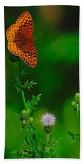 Great Spangled Fritillary Bath Towel
