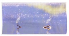 Great White Heron Hand Towel