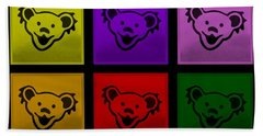 Greatful Dead Dancing Bears In Multi Colors Bath Towel