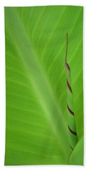 Green Leaf With Spiral New Growth Hand Towel