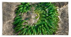 Green Sea Anemone Hand Towel