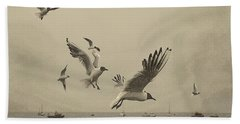 Gulls Bath Towel by Linsey Williams