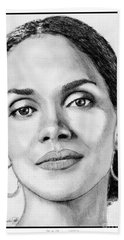 Halle Berry In 2008 Bath Towel by J McCombie