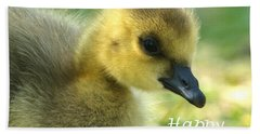 Happy Easter Gosling Bath Towel