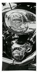 Harley Davidson Bike - Chrome Parts 02 Bath Towel by Aimelle