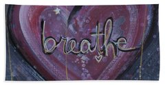 Heart Says Breathe Hand Towel