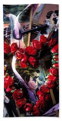 Heart Shaped Roses And Old Postcards Bath Towel