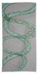 Bath Towel featuring the painting Helix  by Sonali Gangane