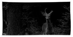 Hand Towel featuring the photograph Hello Deer by Cheryl Baxter