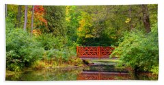 Henes Park Pond Bridge Bath Towel