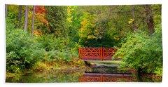 Henes Park Pond Bridge Hand Towel