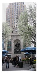 Hand Towel featuring the photograph Herald Square by Dora Sofia Caputo Photographic Art and Design
