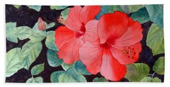 Hibiscus Hand Towel by Laurel Best