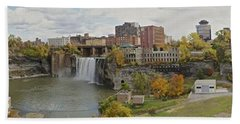 Hand Towel featuring the photograph High Falls Panorama by William Norton