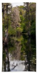 Hand Towel featuring the photograph Hillsborough River In March by Steven Sparks
