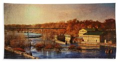 Hand Towel featuring the photograph Historic Vulcan Paper Mill by Joel Witmeyer