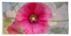 Hollyhock Bath Towel