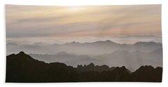Huangshan Sunrise Panorama 1 Hand Towel