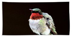 Hummingbird - Ruffled Feathers Hand Towel by Travis Truelove