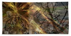 Bath Towel featuring the photograph Hunter by EricaMaxine  Price