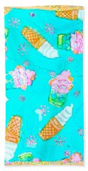Bath Towel featuring the painting Ice Cream I Scream by Beth Saffer