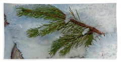 Ice Crystals And Pine Needles Hand Towel by Tikvah's Hope