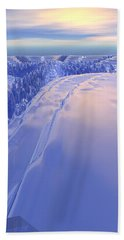 Hand Towel featuring the digital art Ice Fissure by Phil Perkins