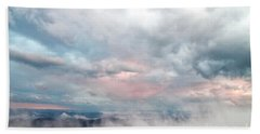 Hand Towel featuring the photograph In The Clouds by Jeannette Hunt