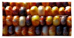 Hand Towel featuring the photograph Indian Corn by Barbara McMahon