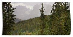 Indian Peaks Colorado Rocky Mountain Rainy View Hand Towel